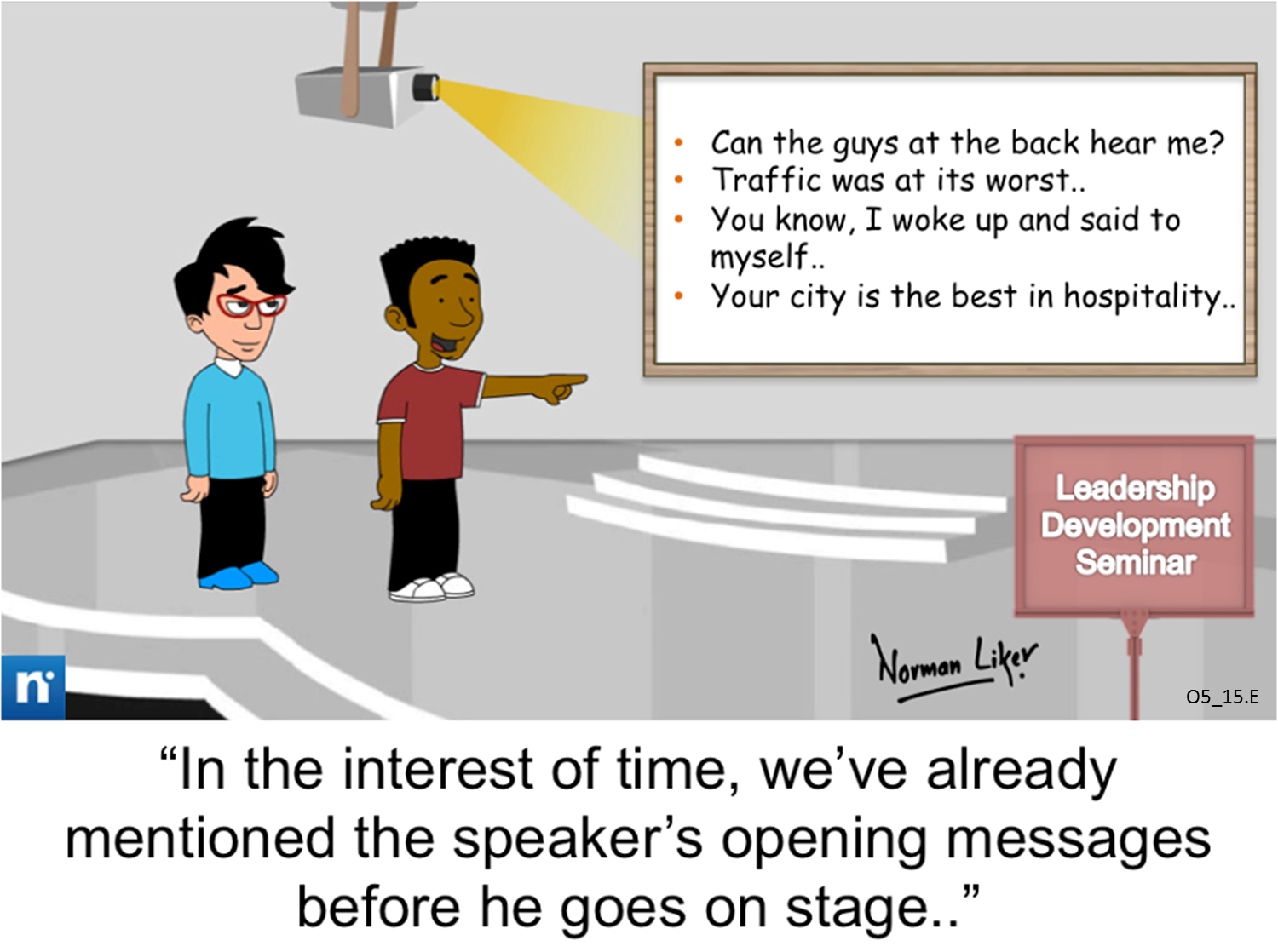 Office Comics: Leadership Seminar