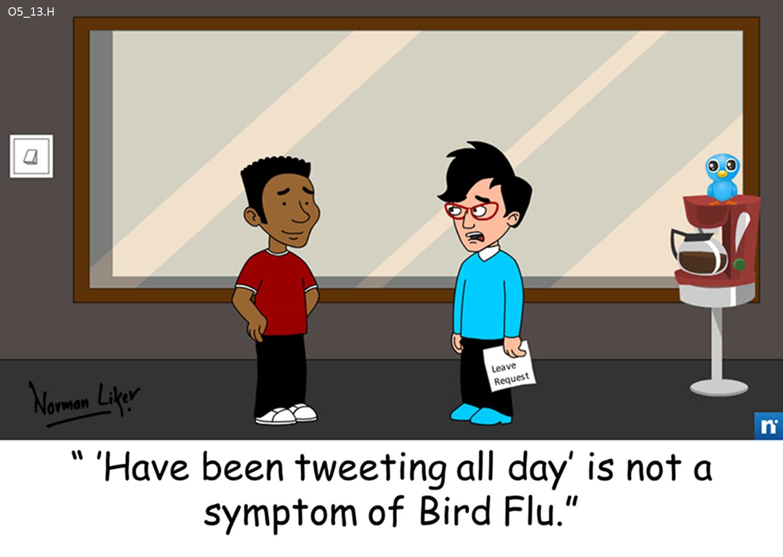 Office Comics: Bird Flu Symptoms