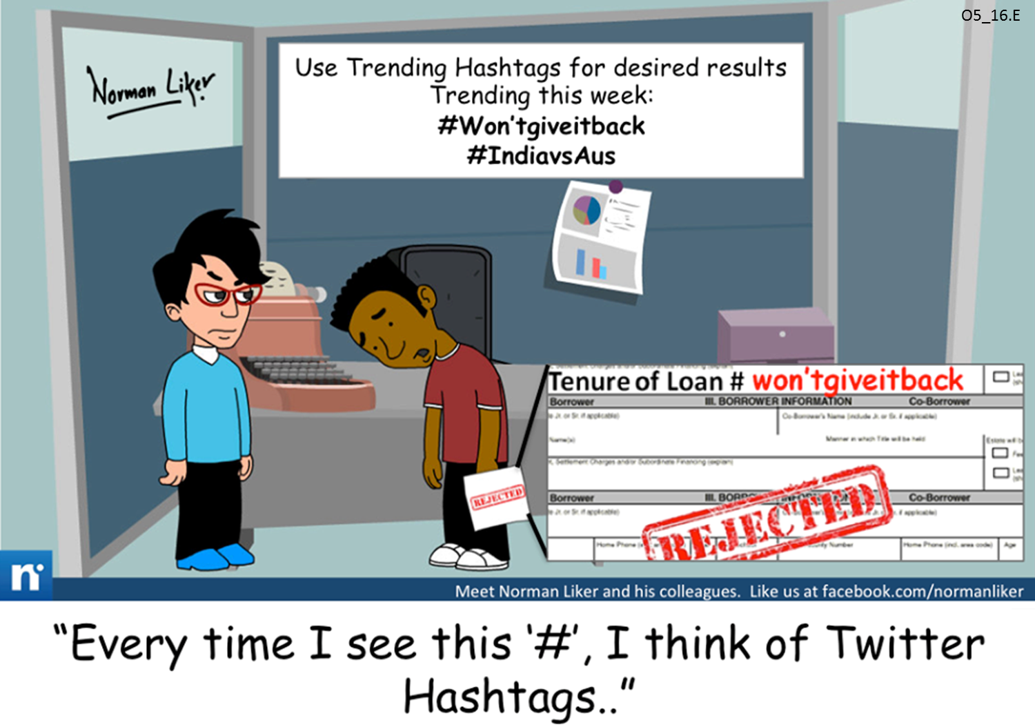 Office Comics: Trending Hashtags