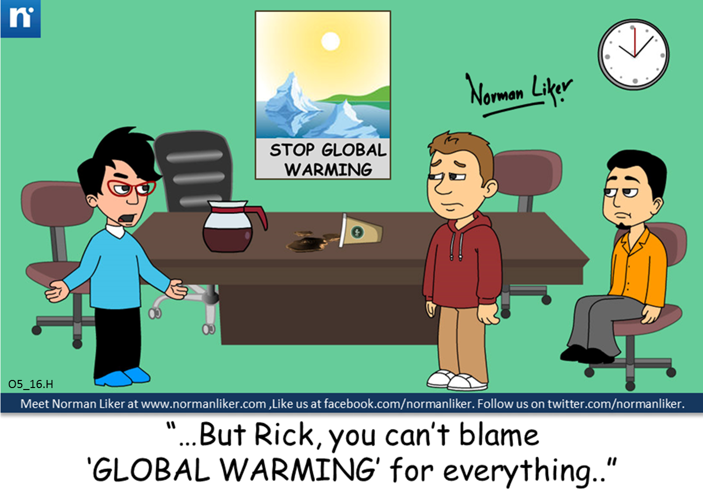 Office Comics: Global Warming