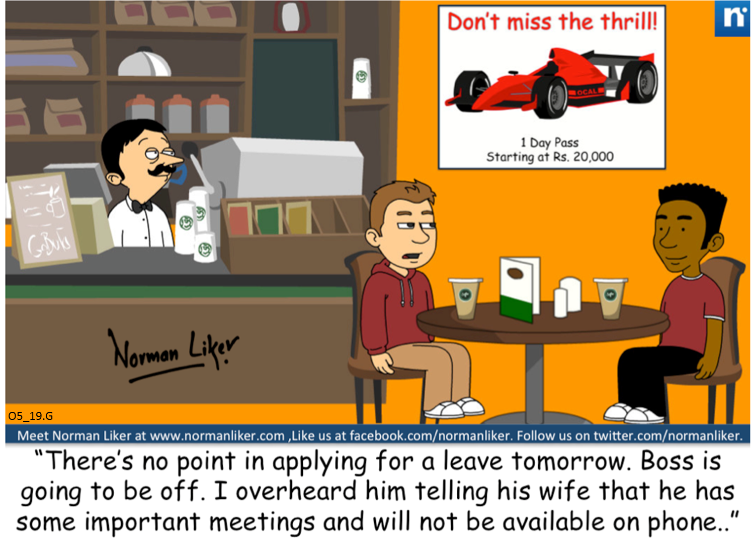 Office Comics: Leave Application