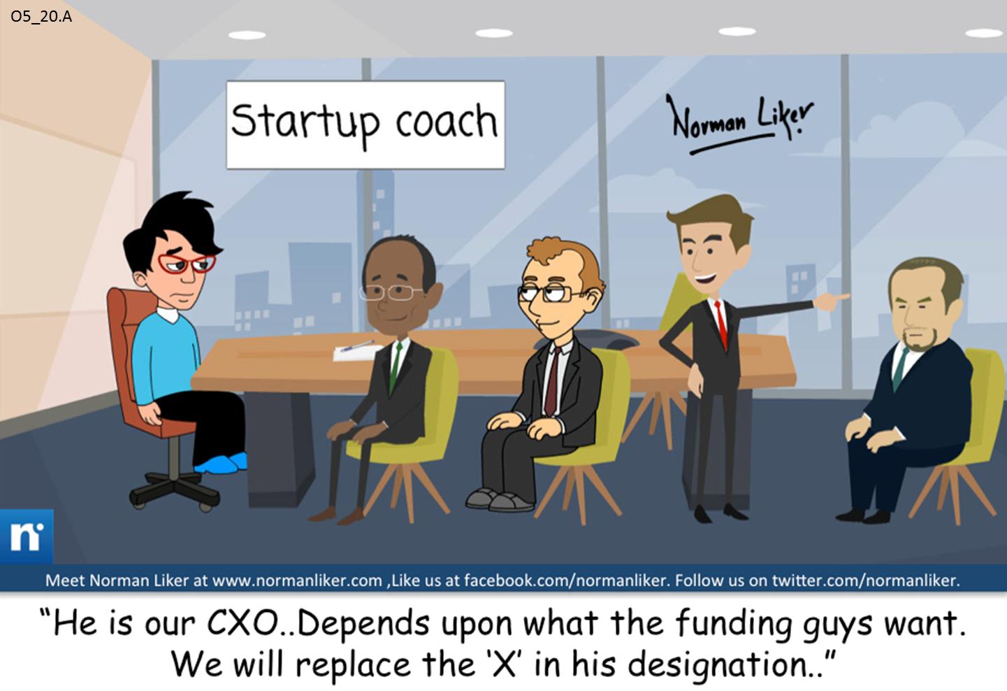 Office Comics: Startup coach