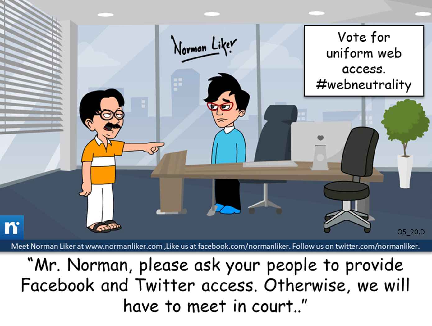 Office Comics: Web Neutrality