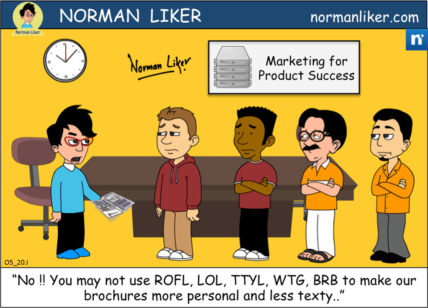 Office Comics: Marketing Brochures